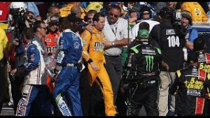 Throwback: Kyle Busch, Joey Logano tangle on Vegas pit road in 2017 | NASCAR Cup Series