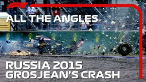 All The Angles | Romain Grosjean's Monster Crash | 2015 Russian Grand Prix