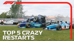 Top 5 Crazy Restarts in F1!