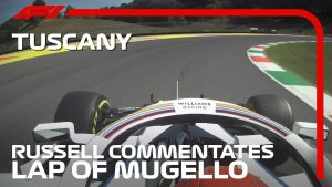 George Russell Commentates On Mugello Lap | 2020 Tuscan Grand Prix