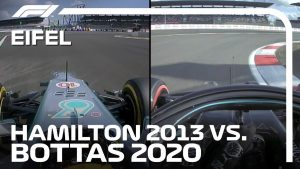 Nurburgring Lap Comparison: Lewis Hamilton 2013 vs Valtteri Bottas 2020