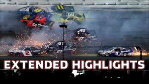 Wreck filled Xfinity Series Beef. It's What's For Dinner 300 | Xfinity Series Extended Highlights