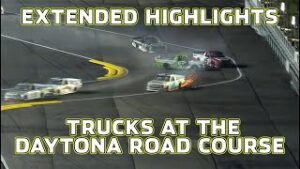 Rainy Wrecks at Daytona Road Course | NASCAR Truck Series Extended Highlights