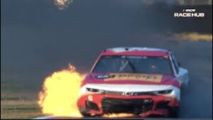 'You're on fire! Stop! Stop! Stop!' NASCAR RACE HUB'S Radioactive from Daytona | NASCAR Cup Series