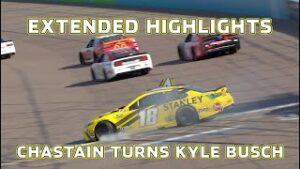 Kyle Busch gets turned | Extended Highlights : NASCAR Cup Series from Phoenix