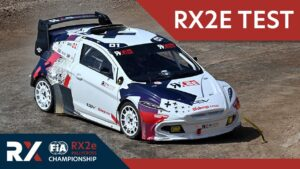 NEW Electric Rallycross Car Test. Drivers test the new RX2e electric race car.