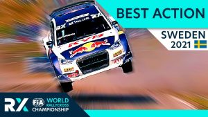 Best Rallycross Action - World RX of Sweden 2021 with Crashes, Battles, Jumps and Passes.