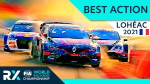 Best Rallycross Action - World RX of Lohéac 2021 with Crashes, Battles, Jumps and Passes.