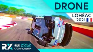 Drone Special : World RX of Lohéac 2021 : FPV Drone chasing Rallycross Cars!