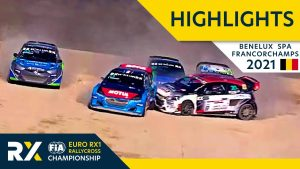 Euro RX1 Qualifying Highlights : Benelux World RX of Spa Francorchamps 2021  Belgium Rallycross 2021