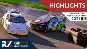 World RX2e Qualifying Highlights : Benelux World RX of Spa Francorchamps 2021 : Belgium Rallycross