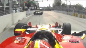 Tony Kanaan and Helio Crash at Baltimore